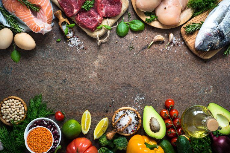 肉類、野菜などの食材