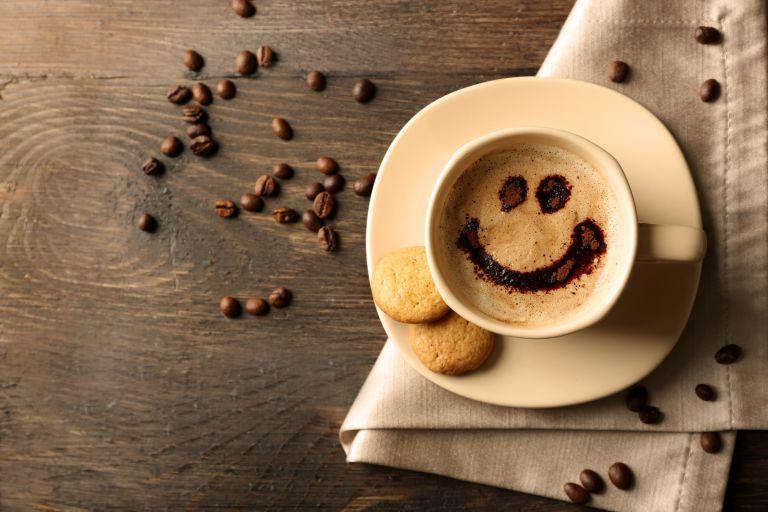 笑顔のコーヒー